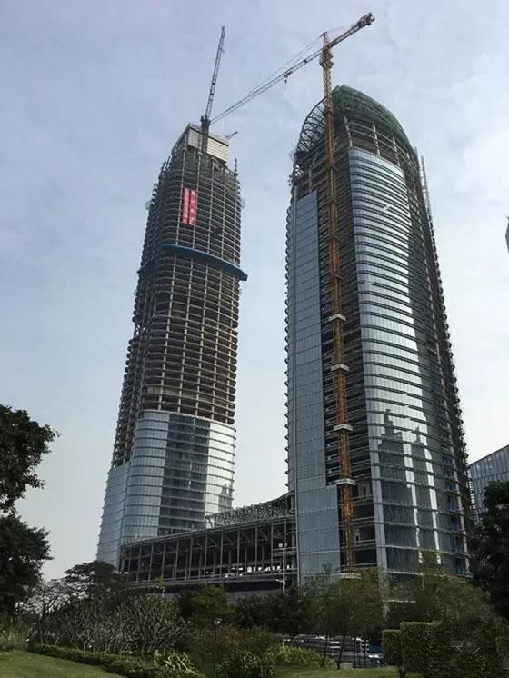 """广东琶洲第一高楼""""天目塔""""钢结构项目顺利封"""